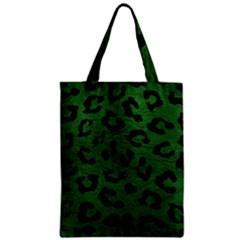 Skin5 Black Marble & Green Leather Zipper Classic Tote Bag