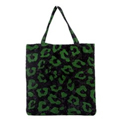Skin5 Black Marble & Green Leather (r) Grocery Tote Bag