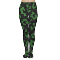 Skin5 Black Marble & Green Leather (r) Women s Tights