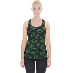 Skin5 Black Marble & Green Leather (r) Piece Up Tank Top