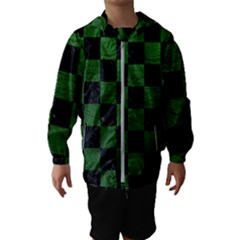 Square1 Black Marble & Green Leather Hooded Wind Breaker (kids)