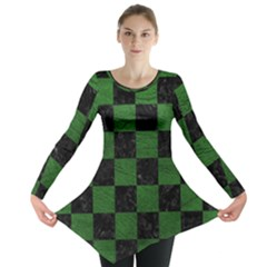 Square1 Black Marble & Green Leather Long Sleeve Tunic