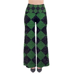 Square2 Black Marble & Green Leather Pants