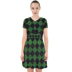 Square2 Black Marble & Green Leather Adorable In Chiffon Dress