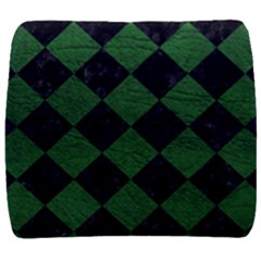 Square2 Black Marble & Green Leather Back Support Cushion