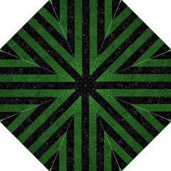 Stripes1 Black Marble & Green Leather Straight Umbrellas