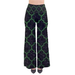 Tile1 Black Marble & Green Leather Pants