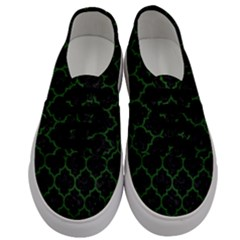 Tile1 Black Marble & Green Leather Men s Classic Low Top Sneakers