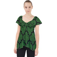 Tile1 Black Marble & Green Leather (r) Lace Front Dolly Top