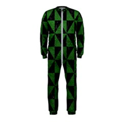 Triangle1 Black Marble & Green Leather Onepiece Jumpsuit (kids)
