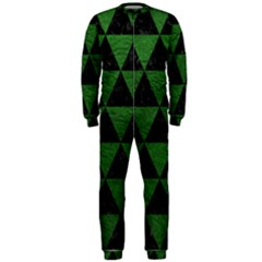 Triangle3 Black Marble & Green Leather Onepiece Jumpsuit (men)