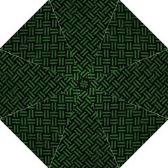 Woven2 Black Marble & Green Leather Straight Umbrellas