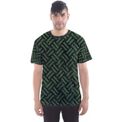 Woven2 Black Marble & Green Leather Men s Sports Mesh Tee