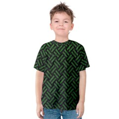 Woven2 Black Marble & Green Leather Kids  Cotton Tee