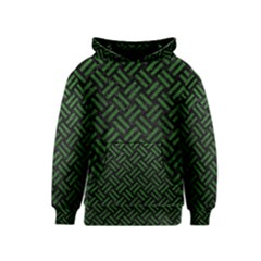Woven2 Black Marble & Green Leather Kids  Pullover Hoodie