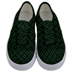Woven2 Black Marble & Green Leather Kids  Classic Low Top Sneakers
