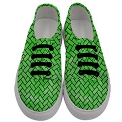 Brick2 Black Marble & Green Watercolor (r) Men s Classic Low Top Sneakers