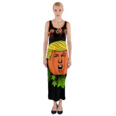 Trump Or Treat  Fitted Maxi Dress
