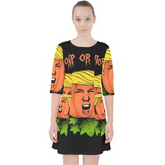 Trump Or Treat  Pocket Dress