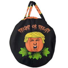 Trump Or Treat  Giant Round Zipper Tote