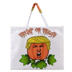 Trump Or Treat  Zipper Large Tote Bag