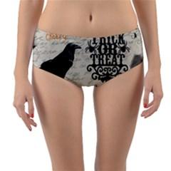 Vintage Halloween Reversible Mid Waist Bikini Bottoms
