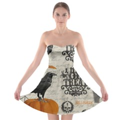 Vintage Halloween Strapless Bra Top Dress