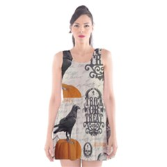 Vintage Halloween Scoop Neck Skater Dress