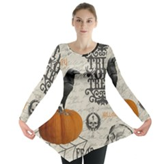 Vintage Halloween Long Sleeve Tunic