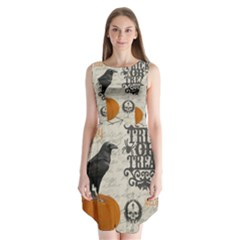 Vintage Halloween Sleeveless Chiffon Dress