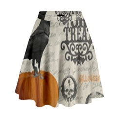 Vintage Halloween High Waist Skirt