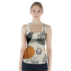 Vintage Halloween Racer Back Sports Top