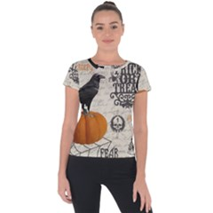 Vintage Halloween Short Sleeve Sports Top