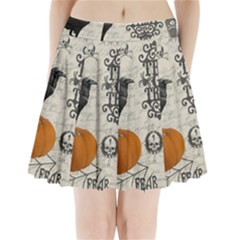 Vintage Halloween Pleated Mini Skirt
