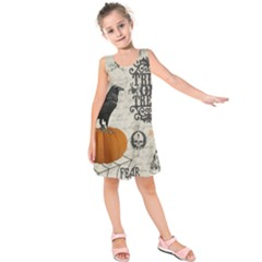 Vintage Halloween Kids  Sleeveless Dress