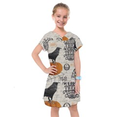Vintage Halloween Kids  Drop Waist Dress