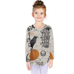 Vintage Halloween Kids  Long Sleeve Tee