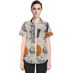 Vintage Halloween Women s Short Sleeve Shirt