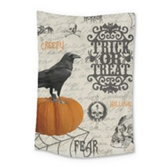 Vintage Halloween Small Tapestry