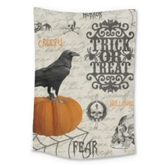 Vintage Halloween Large Tapestry