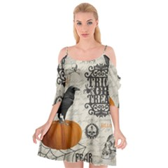 Vintage Halloween Cutout Spaghetti Strap Chiffon Dress