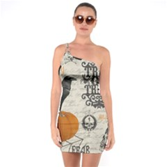 Vintage Halloween One Soulder Bodycon Dress