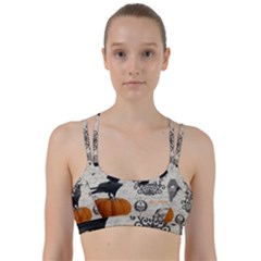 Vintage Halloween Line Them Up Sports Bra