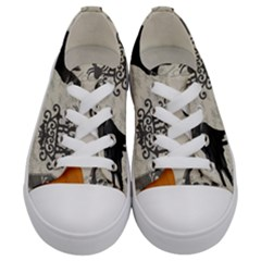 Vintage Halloween Kids  Low Top Canvas Sneakers
