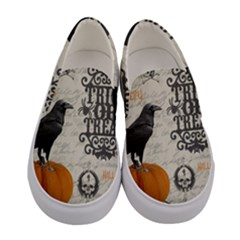 Vintage Halloween Women s Canvas Slip Ons