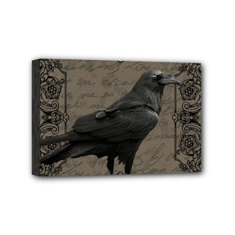 Vintage Halloween Raven Mini Canvas 6  X 4