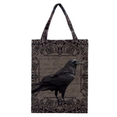 Vintage Halloween Raven Classic Tote Bag