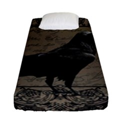 Vintage Halloween Raven Fitted Sheet (single Size)