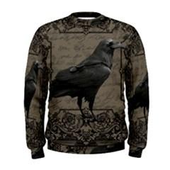 Vintage Halloween Raven Men s Sweatshirt