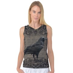 Vintage Halloween Raven Women s Basketball Tank Top